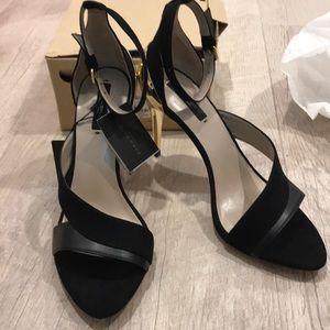 Zara heels in black size 9 or 40euro, new